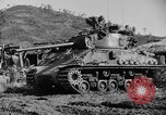Image of US Army M4 Sherman tanks in Korean War Korea, 1952, second 5 stock footage video 65675044764