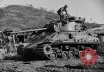 Image of US Army M4 Sherman tanks in Korean War Korea, 1952, second 6 stock footage video 65675044764
