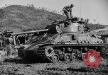 Image of US Army M4 Sherman tanks in Korean War Korea, 1952, second 7 stock footage video 65675044764