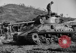 Image of US Army M4 Sherman tanks in Korean War Korea, 1952, second 8 stock footage video 65675044764