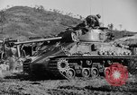 Image of US Army M4 Sherman tanks in Korean War Korea, 1952, second 9 stock footage video 65675044764