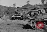 Image of US Army M4 Sherman tanks in Korean War Korea, 1952, second 10 stock footage video 65675044764