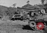 Image of US Army M4 Sherman tanks in Korean War Korea, 1952, second 11 stock footage video 65675044764