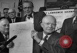Image of President Dwight Eisenhower Washington DC USA, 1954, second 6 stock footage video 65675044780
