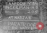 Image of Allied paratroopers Nadzab New Guinea, 1943, second 1 stock footage video 65675044793