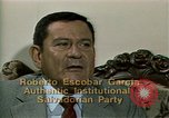 Image of battle for democracy El Salvador, 1983, second 9 stock footage video 65675044839