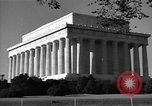 Image of Abraham Lincoln Memorial Washington DC USA, 1949, second 6 stock footage video 65675044860