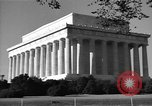 Image of Abraham Lincoln Memorial Washington DC USA, 1949, second 8 stock footage video 65675044860