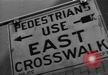 Image of Traffic signs Washington DC USA, 1949, second 12 stock footage video 65675044864