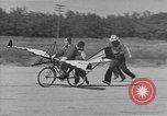 Image of Man attempts to fly a bicycle United States, 1937, second 9 stock footage video 65675044877