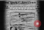 Image of Wright flyer Le Mans France, 1908, second 1 stock footage video 65675044880