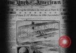Image of Wright flyer Le Mans France, 1908, second 4 stock footage video 65675044880