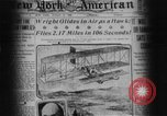 Image of Wright flyer Le Mans France, 1908, second 5 stock footage video 65675044880