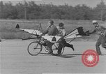 Image of testing a winged ornithopter bicycle United States USA, 1937, second 6 stock footage video 65675044894