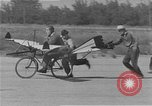 Image of testing a winged ornithopter bicycle United States USA, 1937, second 7 stock footage video 65675044894