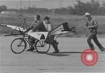 Image of testing a winged ornithopter bicycle United States USA, 1937, second 8 stock footage video 65675044894