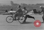 Image of testing a winged ornithopter bicycle United States USA, 1937, second 11 stock footage video 65675044894