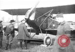 Image of American biplane aircraft World War 1 Europe, 1915, second 4 stock footage video 65675044917