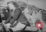 Image of Parisians on bicycles Paris France, 1946, second 4 stock footage video 65675044943