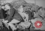 Image of Parisians on bicycles Paris France, 1946, second 5 stock footage video 65675044943