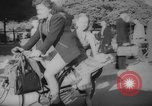 Image of Parisians on bicycles Paris France, 1946, second 6 stock footage video 65675044943