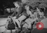 Image of Parisians on bicycles Paris France, 1946, second 7 stock footage video 65675044943