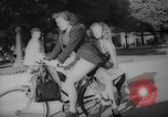 Image of Parisians on bicycles Paris France, 1946, second 9 stock footage video 65675044943