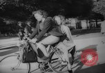 Image of Parisians on bicycles Paris France, 1946, second 10 stock footage video 65675044943