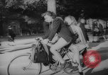 Image of Parisians on bicycles Paris France, 1946, second 11 stock footage video 65675044943