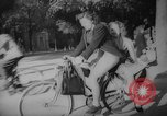 Image of Parisians on bicycles Paris France, 1946, second 12 stock footage video 65675044943