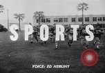 Image of Football team practices with mechanized dummies Ventura California, 1948, second 1 stock footage video 65675044997