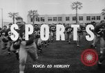 Image of Football team practices with mechanized dummies Ventura California, 1948, second 2 stock footage video 65675044997