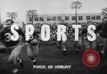 Image of Football team practices with mechanized dummies Ventura California USA, 1948, second 3 stock footage video 65675044997