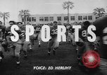 Image of Football team practices with mechanized dummies Ventura California, 1948, second 4 stock footage video 65675044997