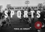 Image of Football team practices with mechanized dummies Ventura California, 1948, second 5 stock footage video 65675044997