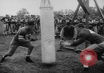 Image of Football team practices with mechanized dummies Ventura California USA, 1948, second 7 stock footage video 65675044997