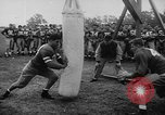 Image of Football team practices with mechanized dummies Ventura California USA, 1948, second 8 stock footage video 65675044997