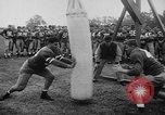 Image of Football team practices with mechanized dummies Ventura California, 1948, second 9 stock footage video 65675044997