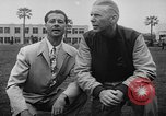 Image of Football team practices with mechanized dummies Ventura California USA, 1948, second 10 stock footage video 65675044997