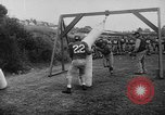 Image of Football team practices with mechanized dummies Ventura California, 1948, second 14 stock footage video 65675044997