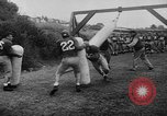 Image of Football team practices with mechanized dummies Ventura California, 1948, second 15 stock footage video 65675044997