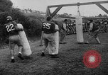 Image of Football team practices with mechanized dummies Ventura California, 1948, second 17 stock footage video 65675044997
