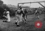 Image of Football team practices with mechanized dummies Ventura California, 1948, second 19 stock footage video 65675044997