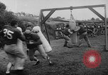 Image of Football team practices with mechanized dummies Ventura California, 1948, second 20 stock footage video 65675044997