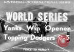 Image of 1953  world Series NY Yankees vs Brooklyn Dodgers New York United States USA, 1953, second 1 stock footage video 65675045090