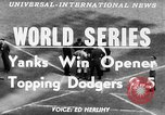 Image of 1953  world Series NY Yankees vs Brooklyn Dodgers New York United States USA, 1953, second 3 stock footage video 65675045090