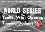 Image of 1953  world Series NY Yankees vs Brooklyn Dodgers New York United States USA, 1953, second 5 stock footage video 65675045090