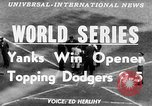 Image of 1953  world Series NY Yankees vs Brooklyn Dodgers New York United States USA, 1953, second 6 stock footage video 65675045090