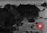 Image of flooded area Netherlands, 1953, second 9 stock footage video 65675045133