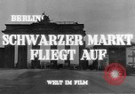Image of black marketing Berlin Germany, 1946, second 8 stock footage video 65675045159
